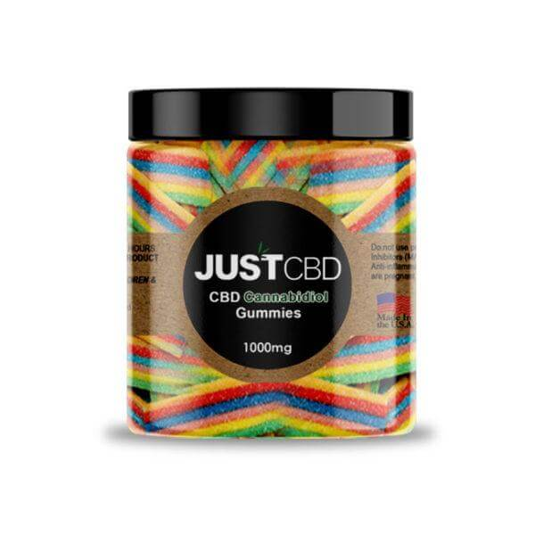 1000mg cbd rainbow ribbon gummies